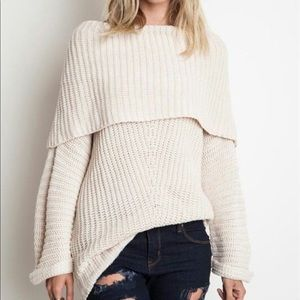 Umgee Aspen Chunky Knit Sweater Cowl Large
